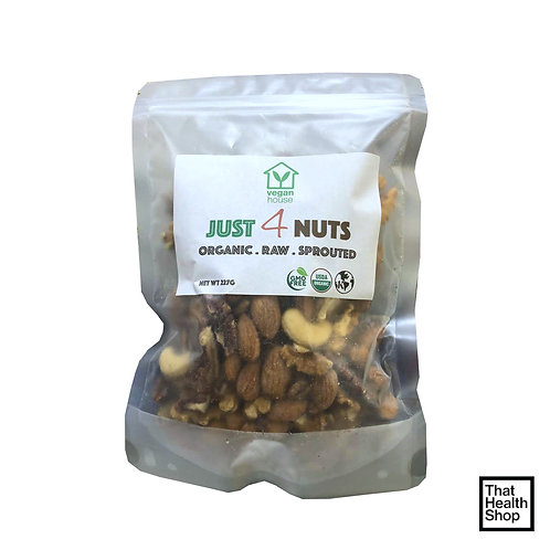Vegan House Organic, Raw and Sprouted,  Just 4 Nuts (227g)