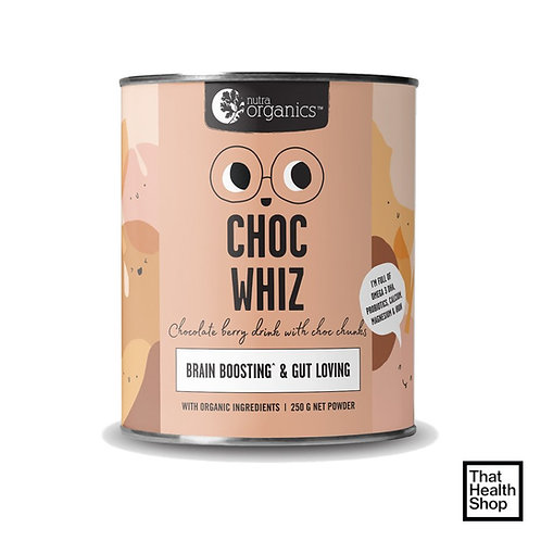 Nutra Organics Choc Whiz (Brain Boosting & Gut Loving) 250g