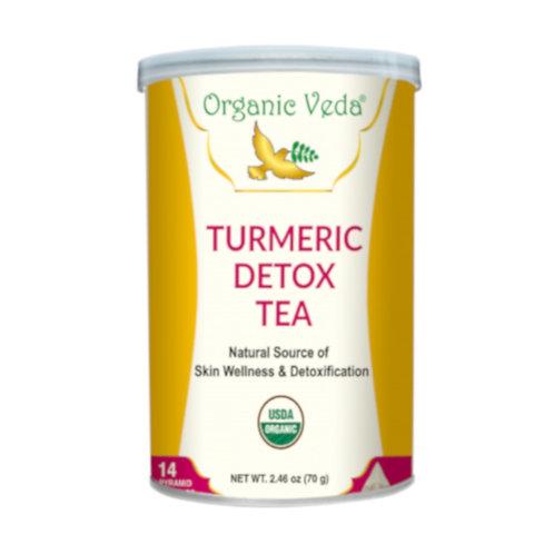 Organic Veda Turmeric Detox Tea (14 Pyramid Tea Bags)
