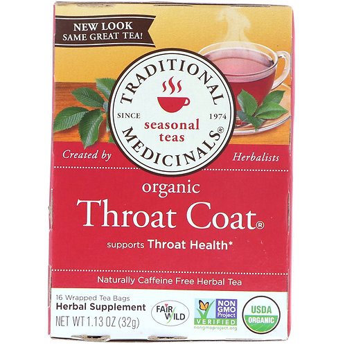 Traditional Medicinals Throat Coat Tea (16 Sachets)