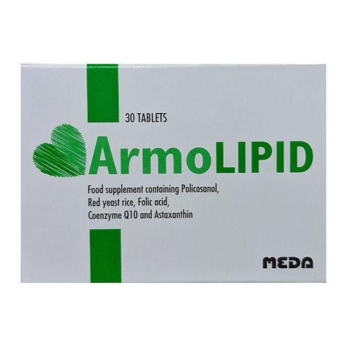 Meda Armolipid Tablets (30 Tablets)-Supports Healthy cholesterol Levels