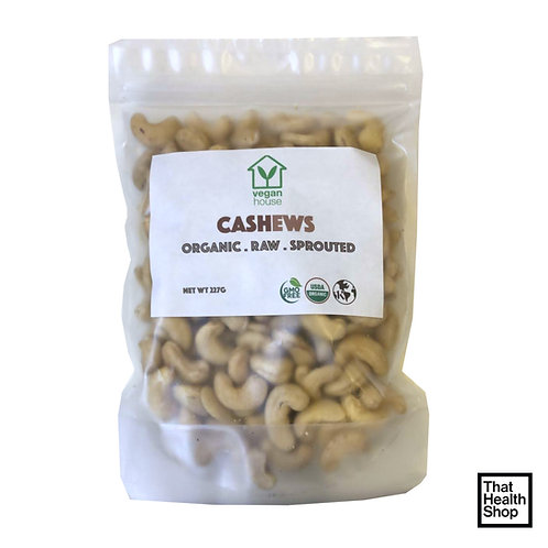 Vegan House Organic Raw Sprouted Cashew Nuts (227g)