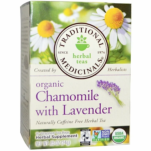 Traditional Medicinals Organic Chamomile with Lavender Tea (16 Sachets)