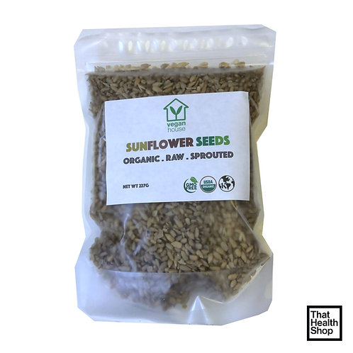 Vegan House Organic Raw Sprouted Sunflower Seeds (227g)