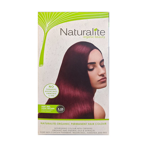 Naturalite Organic Permanent Hair Colour 5.55 (Deep Red, Light Brown)