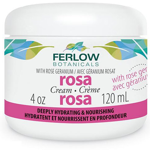 Ferlow Botanicals with Rose Geranium Rosa Cream (60 ml)