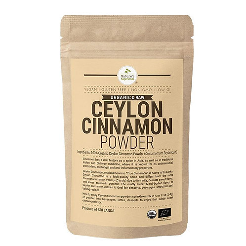 Nature's Superfoods Organic Ceylon Cinnamon Powder (100g)