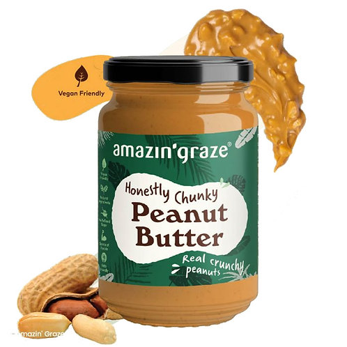 Amazin Graze Honestly Chunky Peanut Butter (350g)