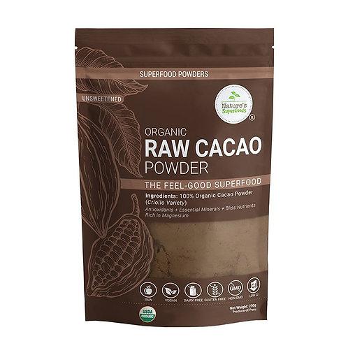 Nature's Superfoods Organic Raw Cacao Powder (250g)