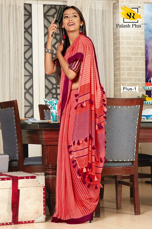 Chrochet Linen Saree (002)