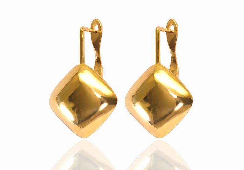 Boucles d'oreille or jaune