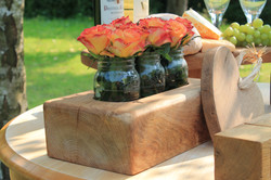 wooden flower blocks