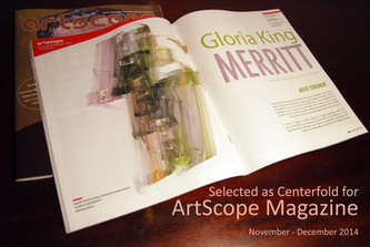 Digital Painting selected as Centerfold for ArtScope Magazine