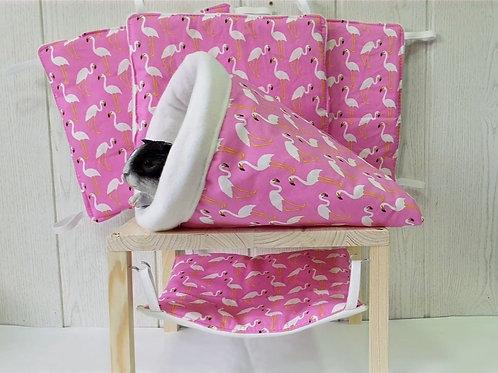 Kuschelset Flamingo