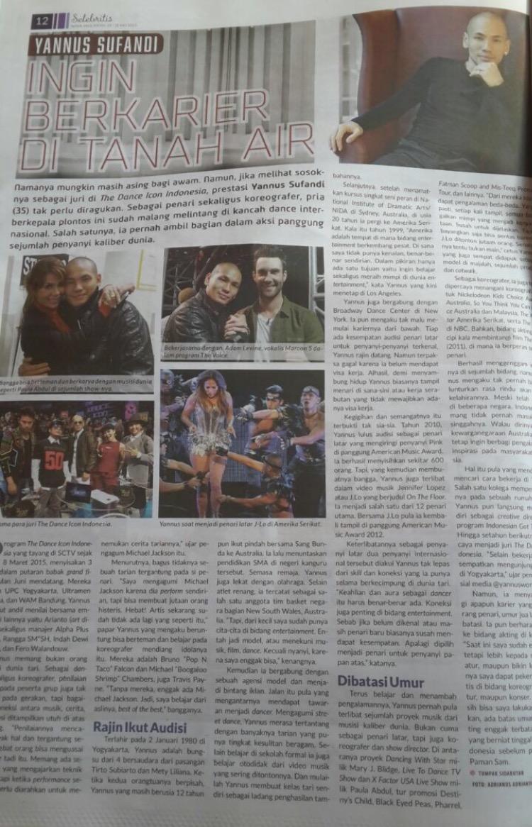 Full Page on Nova tabloid Indonesia