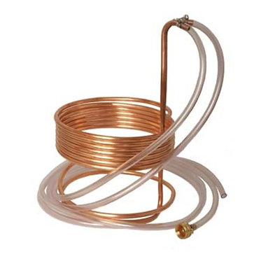 """Wort Chiller - Immersion Chiller (25' x 3/8"""" With Tubing)"""