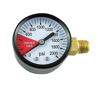 Regulator Gauge 0-2000 PSI right