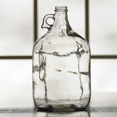 1 Gallon Clear Glass Jugs