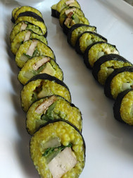 golden rice sushi