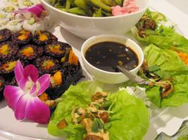 forbidden rice sushi platter