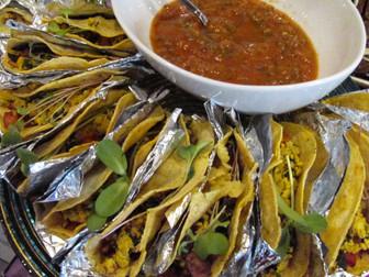 breakfast taco platter