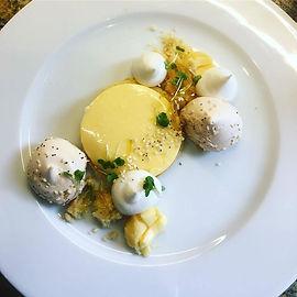 Lemon tart, seseme sablé breton, seseme