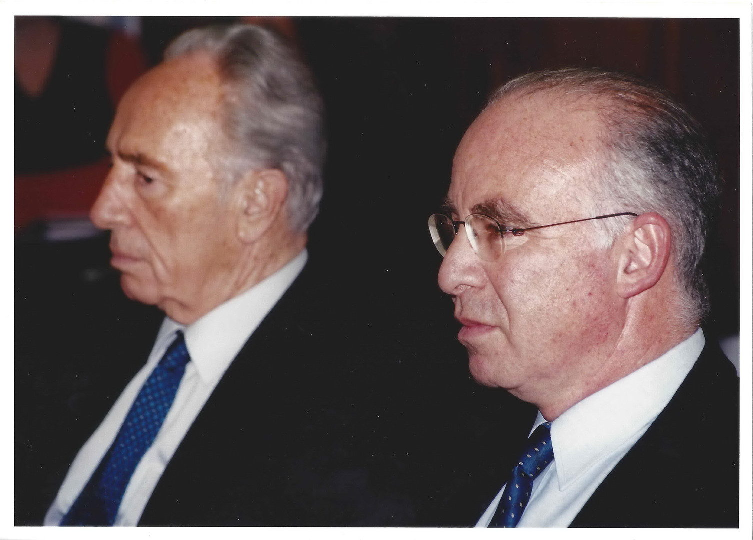 With Israeli Foreign Minister, Shimon Peres