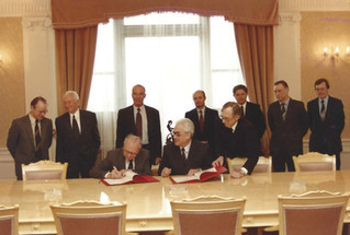 Signing of Agreement on Official Joint publication of Documents on Israeli Soviet Relations