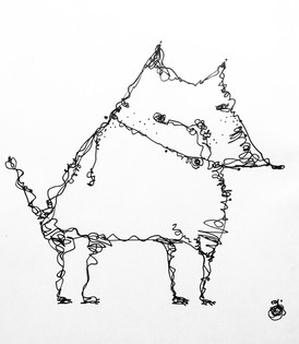 line style dog