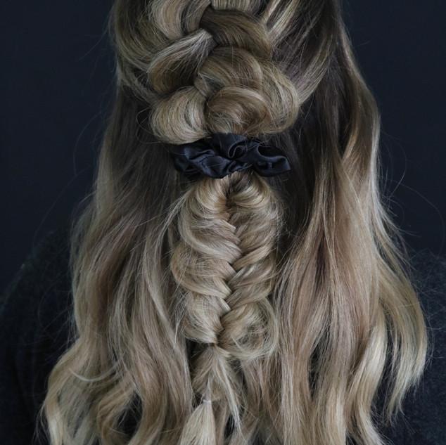 Natural Beaded Row Hair Extensions Braid