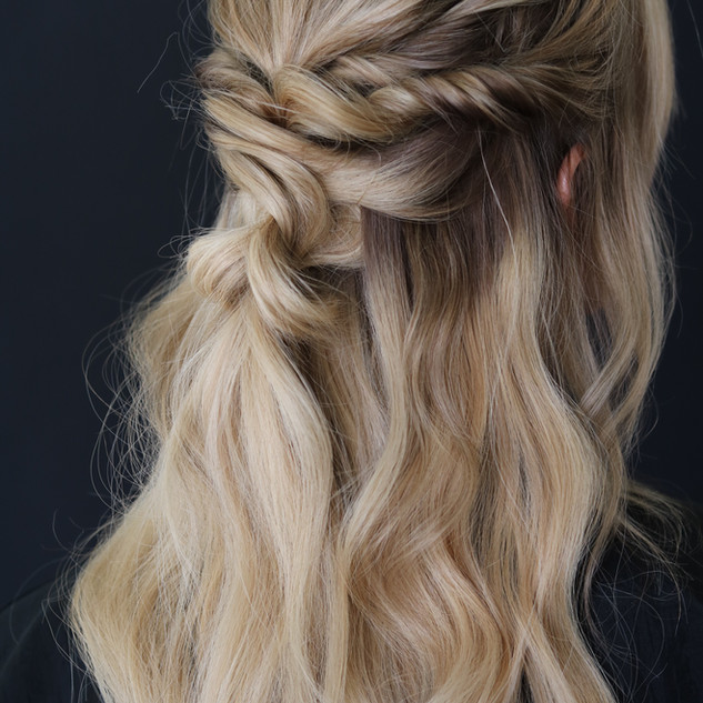 Natural Beaded Rows Hair extensions Styled