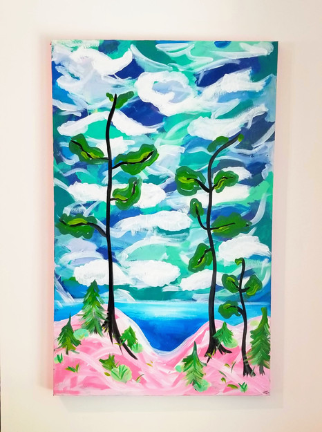 Bruce County Beach painting by Heather L