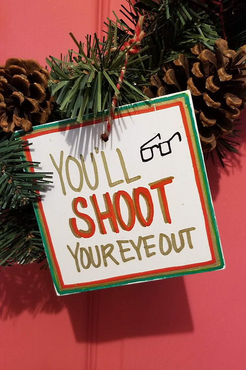 Shoot Your Eye Ornament