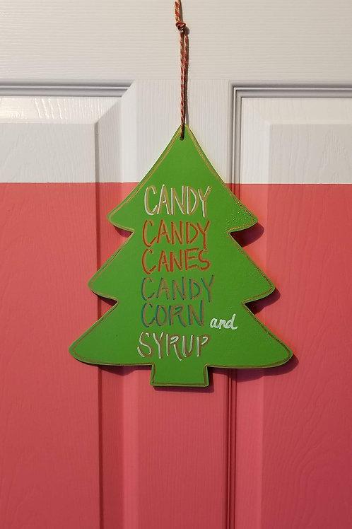 ELF's Food Groups Sign