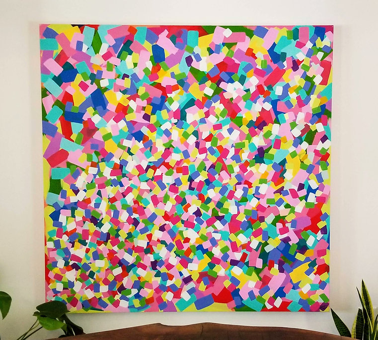 HLT original painting party confetti bri