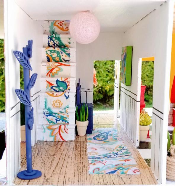 vintage dollhouse hallway makeover by Heather Lynne Travis artist.jpg