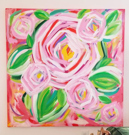 HLT original pretty and PINK peony paint
