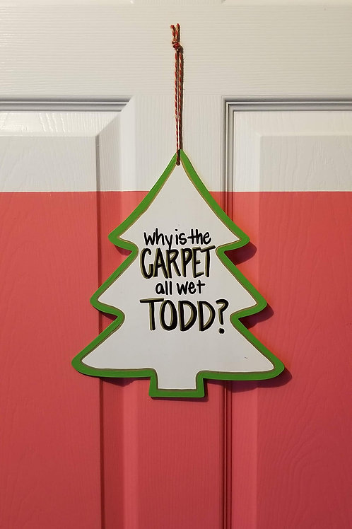 Wet Carpet Christmas Sign