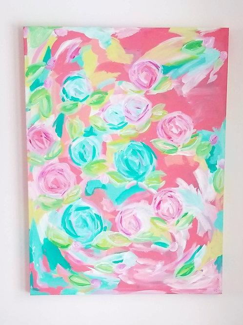 Pink & Blue Peonies