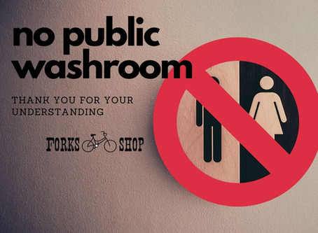 No public bathroom