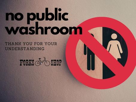 No public bathroom