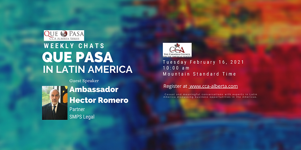 Que Pasa Weekly Chats. A Conversation with Hector Romero and Carlos Solorzano, SMPS Legal.