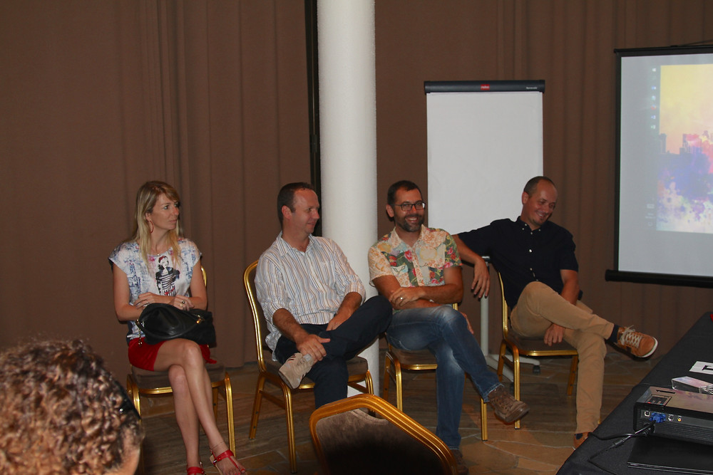 Fanny Valin, Pascal Muselli, David Leclerc et Benoit Berthelemy