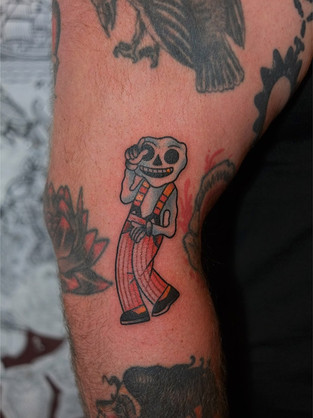 Jazzy Skeleton Tattoo