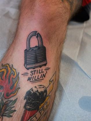 Lock and Lyrics Tattoo
