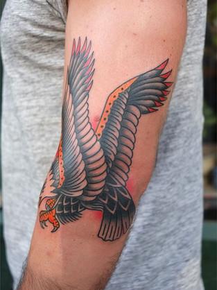 Cute Traditional Eagle Tattoo