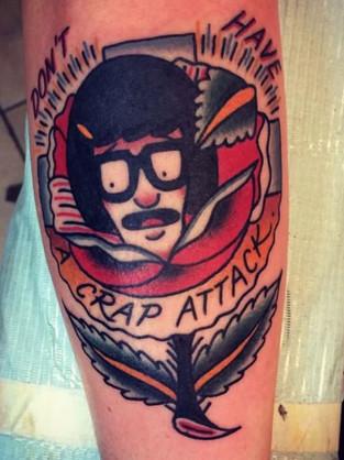 Tina Belcher in Rose tattoo
