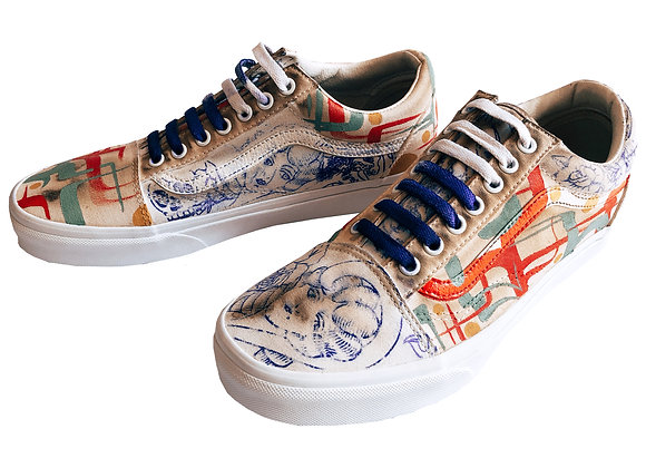 Hand-painted Vans Old Skool GOAT Edition Unisex Shoes