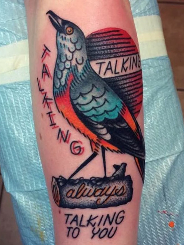 Color Bird and the mood tattoo