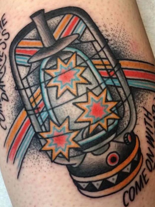 Lantern Tattoo with Stars